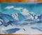 Батик «Гималаи», копия с картины Н.Рериха, 2004г.