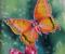 Батик «Бабочки. Триптих» 2007г.